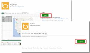 Bing Maps のページが開くので追加する