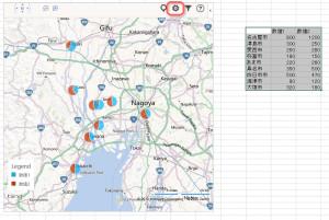 地図にグラフが追加された。