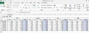 Excelで作った大きな表
