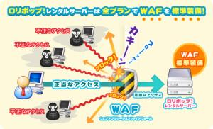 ロリポップレンタルサーバーでWAFを全プラン標準装備