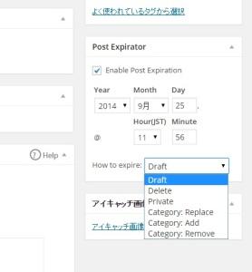 Post Expirator で記事の公開期間を設定する