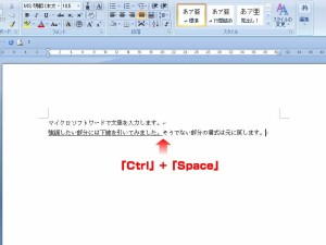 【Ctrl】+【Space】で書式の継承を断ち切る
