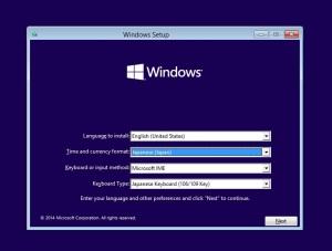 Windows10 インストール開始