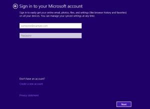 Windows10 Microsoftアカウントの入力